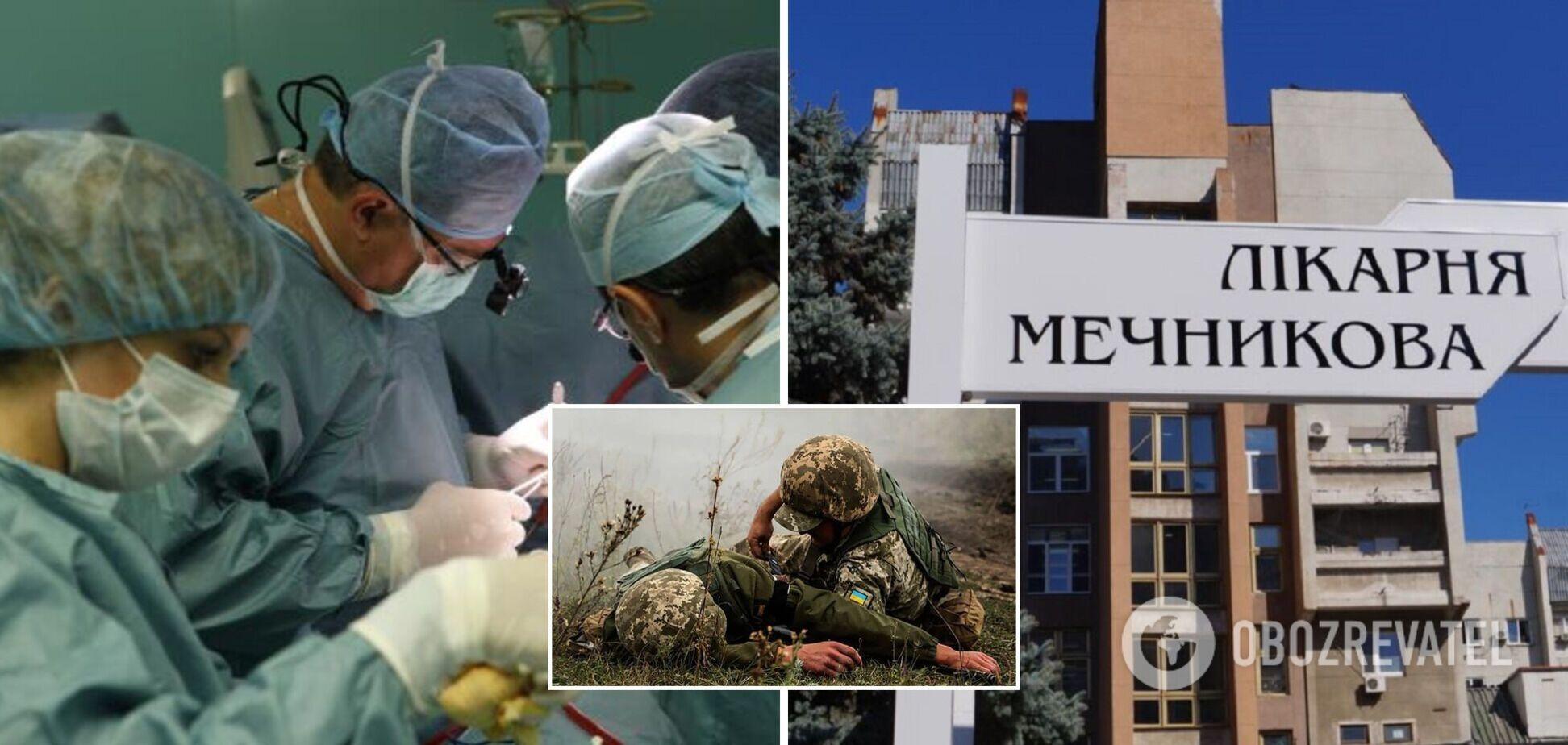 У Дніпрі медики рятують пораненого на Донбасі бійця: куля снайпера прошила йому голову наскрізь