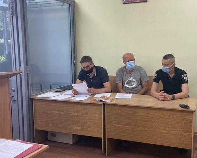 Сергій Спасьонов під час обрання запобіжного заходу.